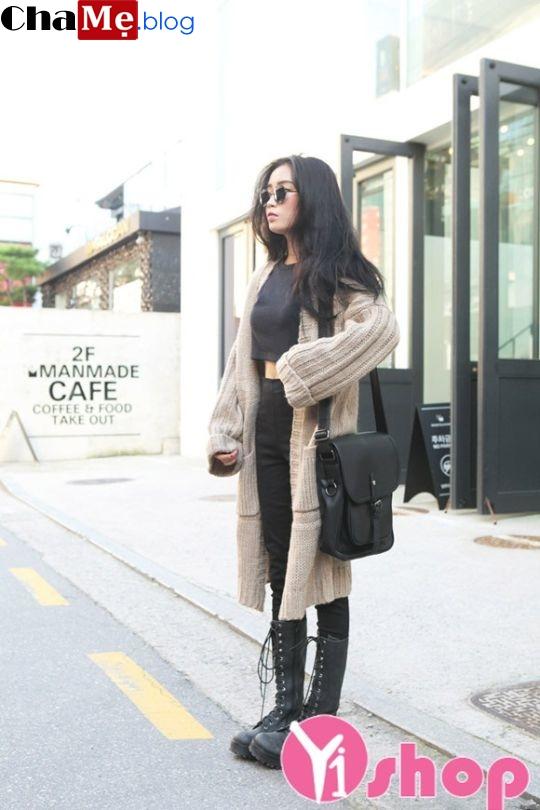 Áo khoác cardigan nữ dáng dài đẹp thướt tha dạo phố đông 2021 - 2022