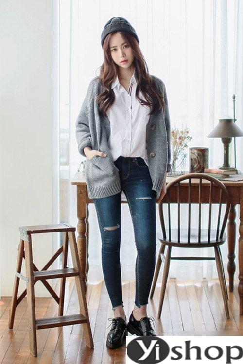 Áo khoác cardigan nữ hàn quốc đẹp lựa chọn lý tưởng ngày lạnh đông 2021 - 2022 phần 8