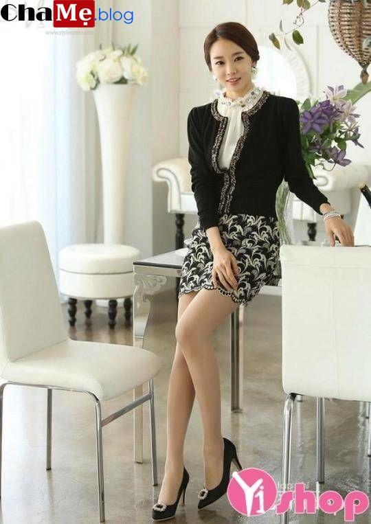 Áo khoác cardigan nữ kiểu hàn quốc cho nàng mi nhon đông 2021 - 2022