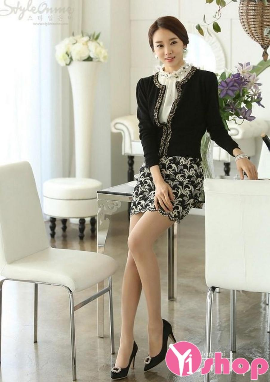 Áo khoác cardigan nữ kiểu Hàn Quốc đẹp cho cô nàng mi nhon thu đông 2021 – 2022
