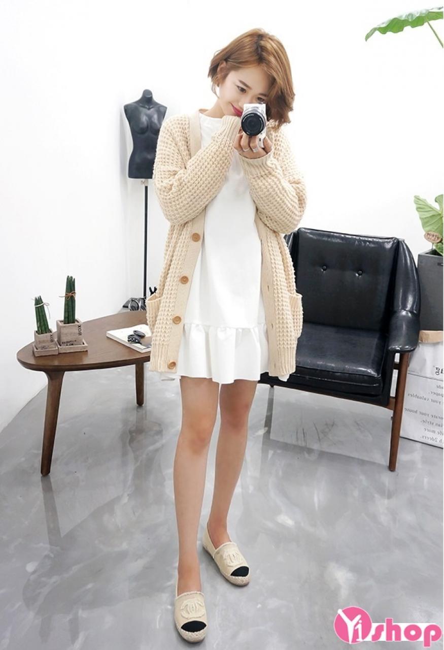 Áo khoác cardigan nữ len đẹp thu đông 2019 duyên dáng ngày lạnh