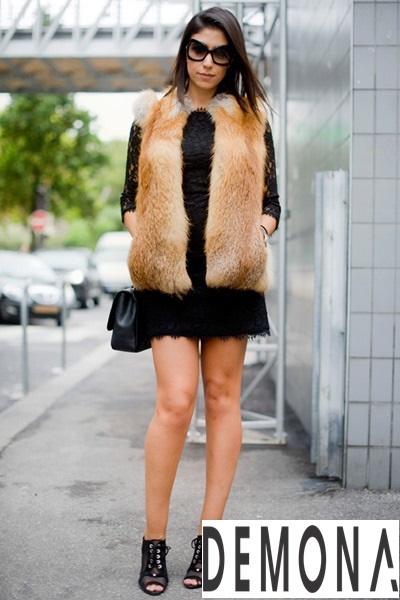 Áo khoác choàng lông vũ nữ đẹp thu đông 2019 – 2021 ấm áp dạo phố phần 3