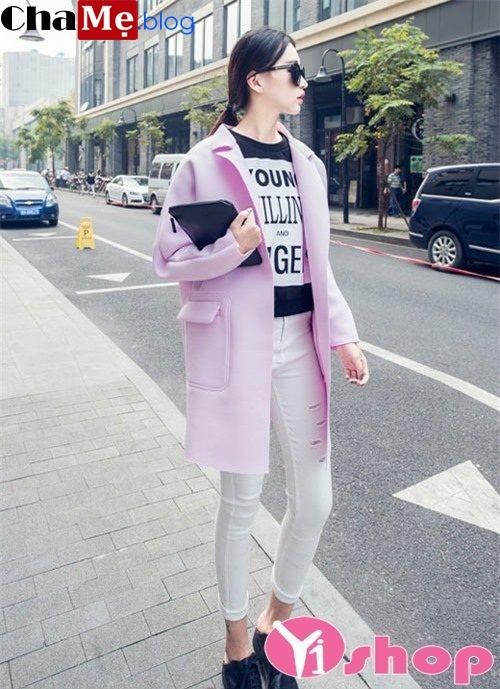 Áo khoác dạ dáng dài đẹp cho teengirl ấm áp đông 2021 - 2022