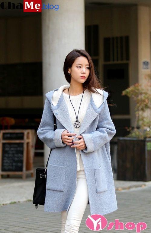 Áo khoác dạ dáng dài nữ đẹp Hàn Quốc ấm áp đông 2021 - 2022