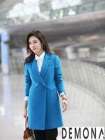 Áo khoác dạ dáng dài nữ đẹp hàn quốc đông 2021 – 2022 không lạnh
