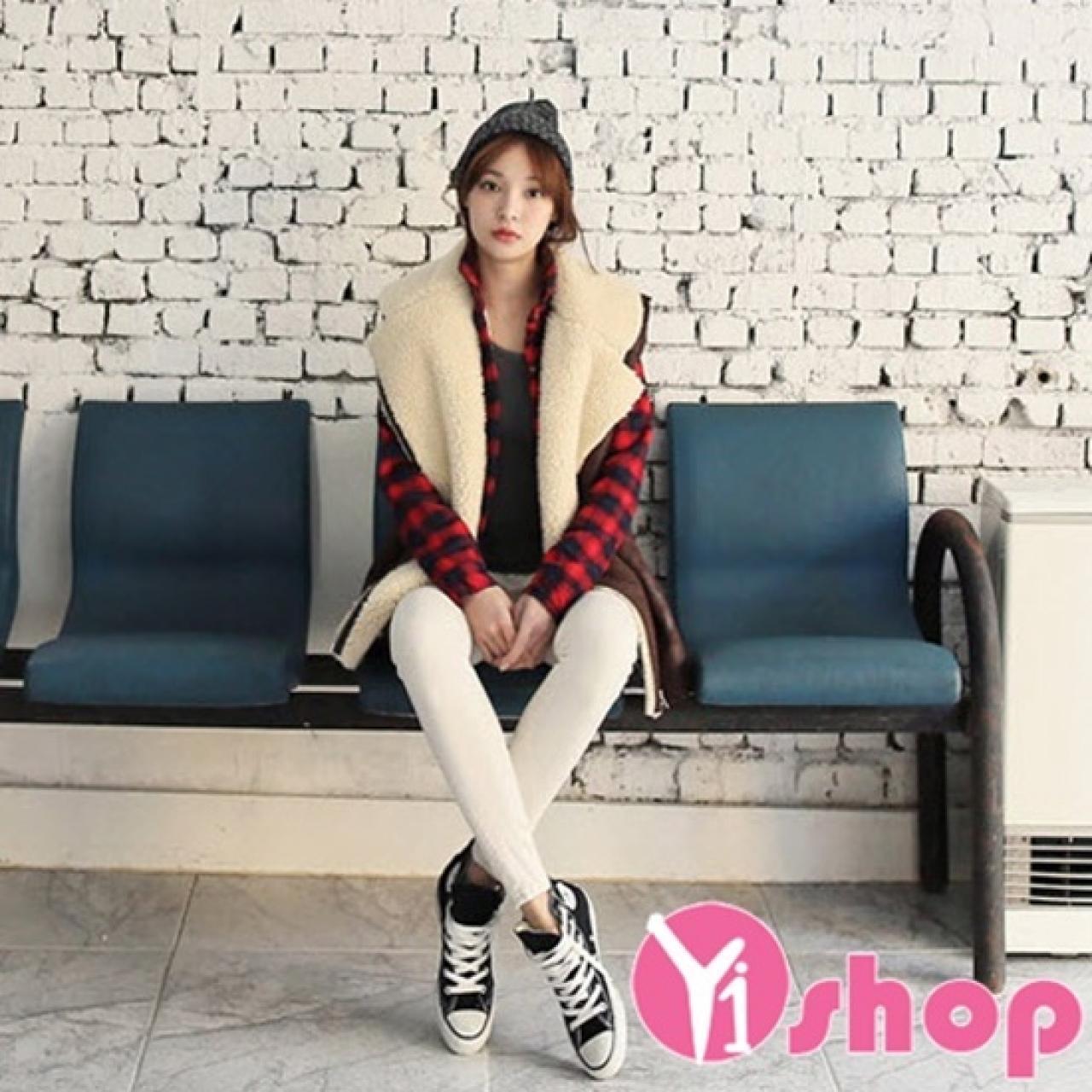 Áo khoác da lộn nữ Hàn Quốc đẹp cho nàng nấm lùn ấm áp