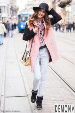 Áo khoác dạ lông nữ đẹp thu đông 2021 – 2022 cho nàng công sở