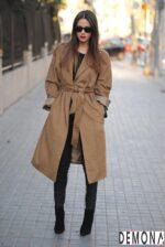 Áo khoác dạ lông nữ màu da đẹp cho cô nàng chân dài tinh tế thu đông 2021 – 2022