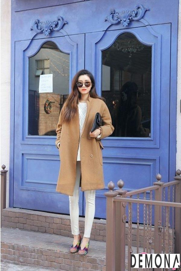 Áo khoác dạ lông nữ màu da đẹp cho cô nàng chân dài tinh tế thu đông 2021 – 2022phần 4