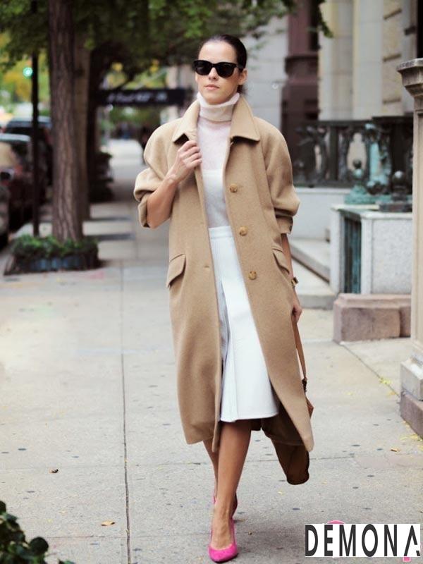 Áo khoác dạ lông nữ màu da đẹp cho cô nàng chân dài tinh tế thu đông 2021 – 2022phần 7