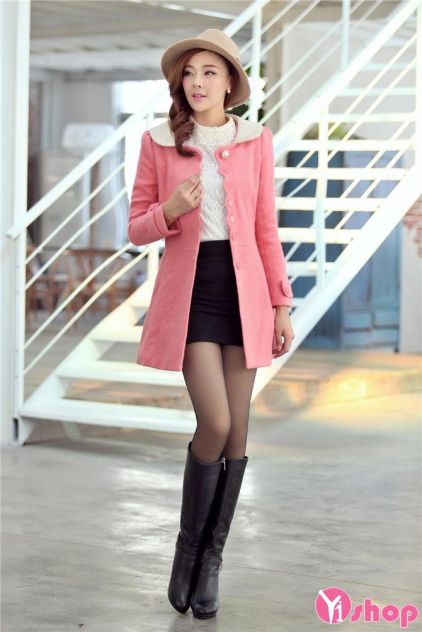 Áo khoác dạ nữ cổ cánh sen đẹp quyến rũ ngày rét buốt đông 2019