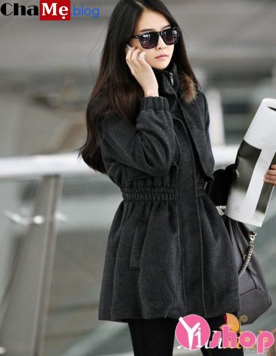 Áo khoác dạ nữ cổ cao đẹp đông 2021 - 2022 công sở cá tính không lạnh