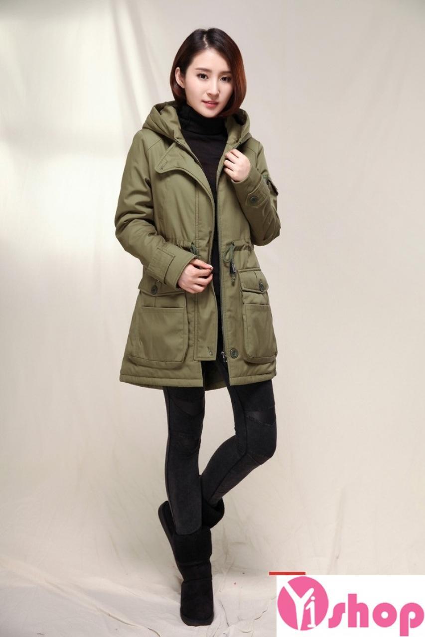 Áo khoác dạ nữ có mũ đẹp cho nàng trẻ trung ấm áp thu đông 2021 - 2022