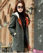 Áo khoác dạ nữ công sở đẹp duyên dáng kiểu Hàn Quốc ấm áp thu đông 2021 – 2022