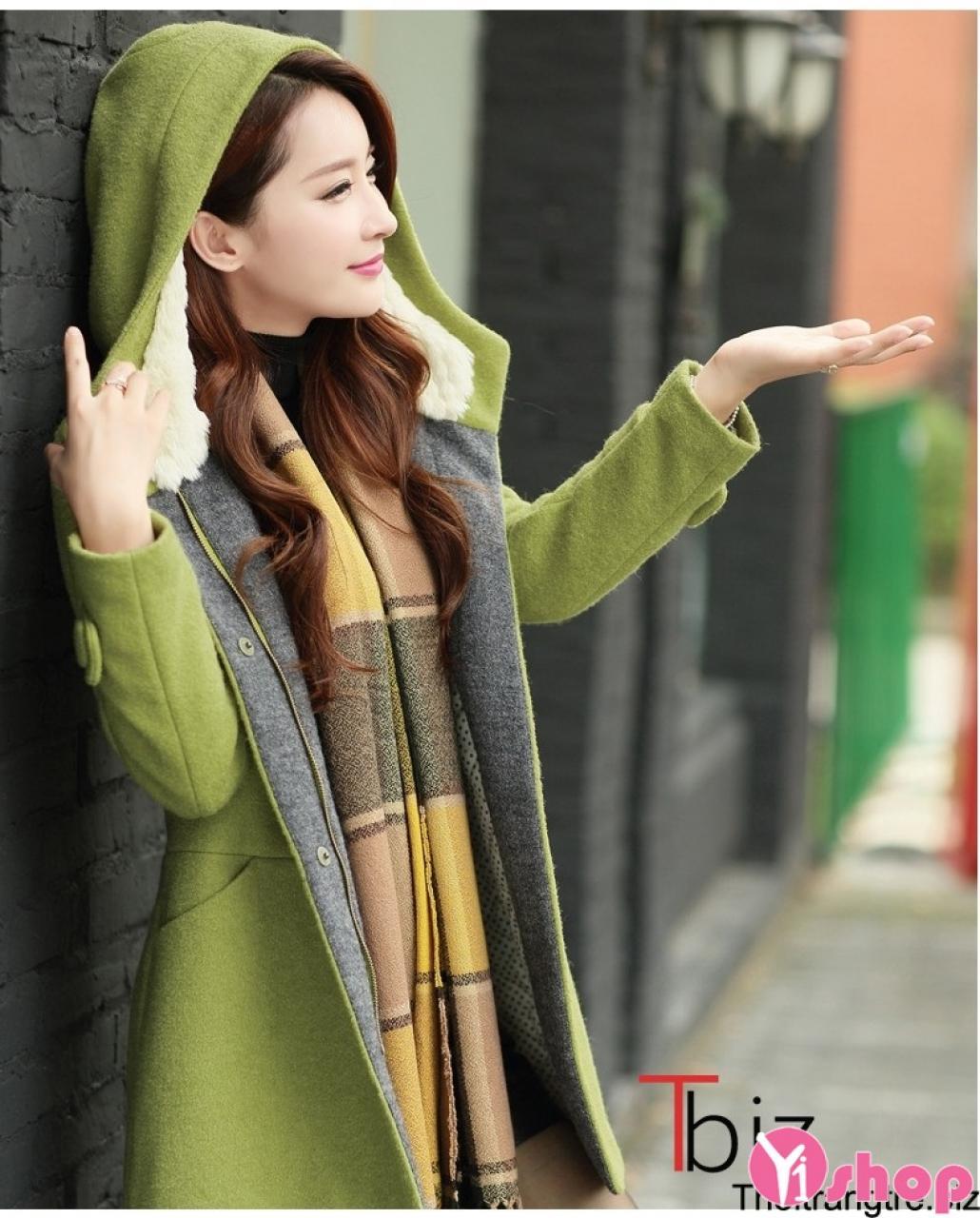 Áo khoác dạ nữ công sở đẹp duyên dáng kiểu Hàn Quốc ấm áp thu đông 2019