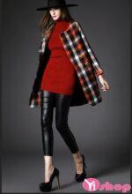 Áo khoác dạ nữ dáng dài cổ tròn đẹp phong cách trẻ trung thu đông 2021 – 2022