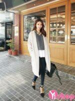 Áo khoác dạ nữ dáng dài cổ vest đẹp thu đông 2021 – 2022 kiểu Hàn Quốc