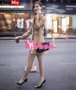 Áo khoác dạ nữ dáng dài đẹp cho cô nàng mập mạp đông 2021 – 2022