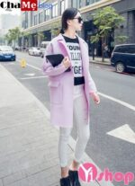 Áo khoác nữ mỏng đẹp form dáng chuẩn Hàn Quốc đông 2021 – 2022