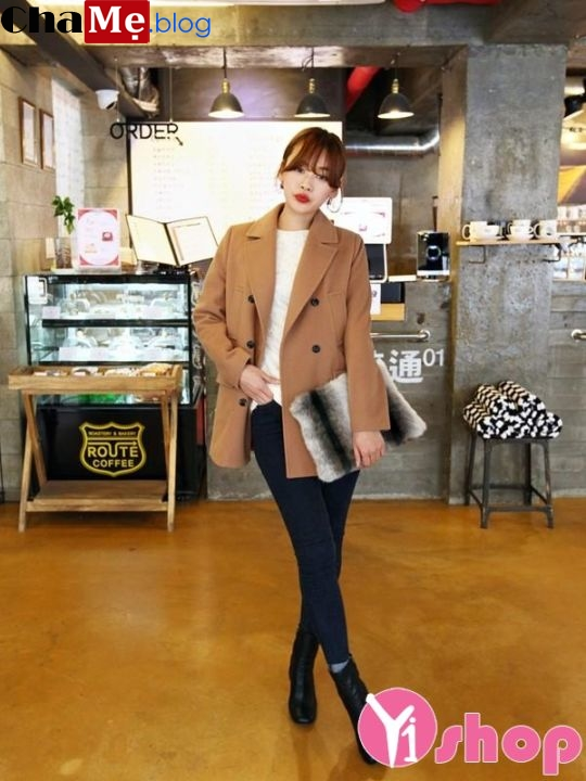 Áo khoác dạ nữ dáng dài đẹp đông 2021 - 2022 kiểu Hàn Quốc không lạnh