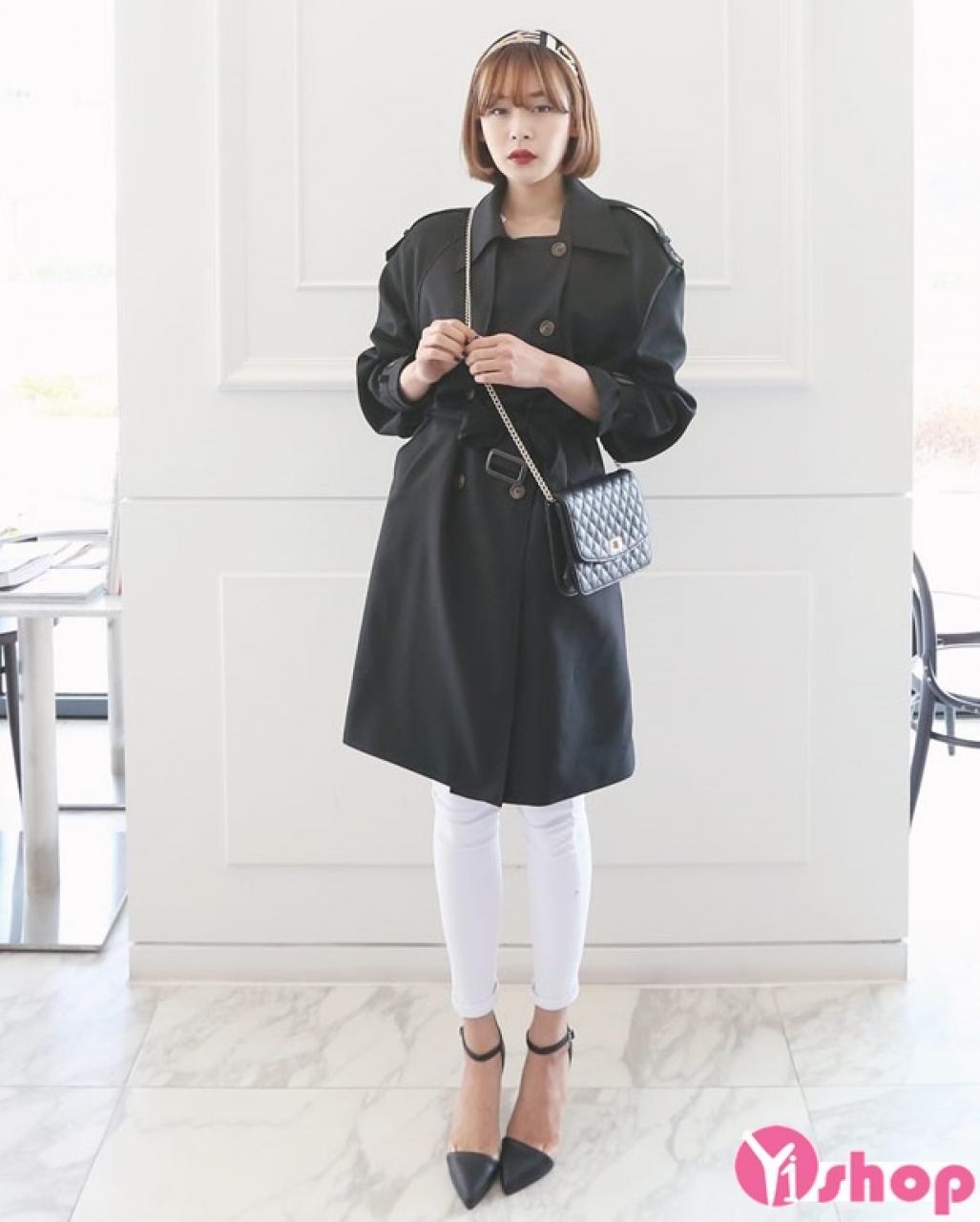 Áo khoác dạ nữ dáng dài đẹp nhất thu đông 2019 thanh lịch tới công sở