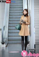 Áo khoác dạ nữ dáng dài đẹp thời trang Hàn Quốc thu đông 2021 – 2022