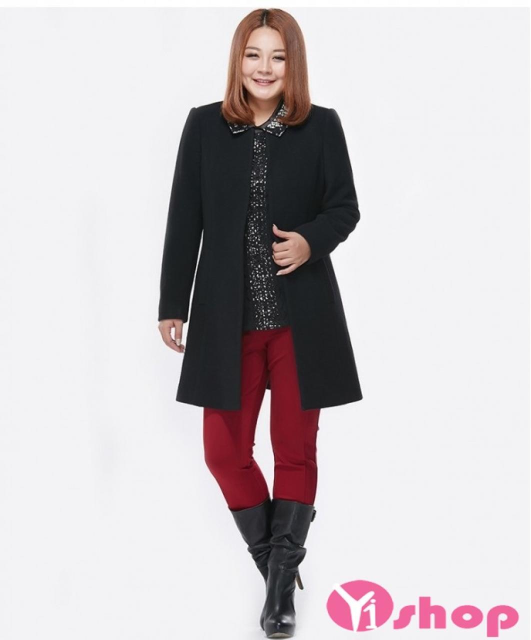Áo khoác dạ nữ dáng dài đẹp thu đông 2019 cho người béo lùn