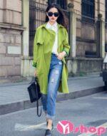 Áo khoác dạ nữ dáng dài đẹp thu đông 2021 – 2022 kiểu Hàn Quốc nổi bật