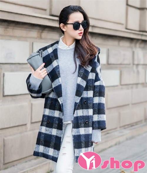 Áo khoác dạ nữ dáng dài đẹp thu đông 2019 kiểu Hàn Quốc nổi bật