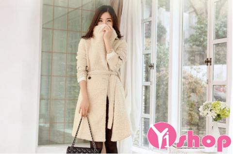 Áo khoác dạ nữ dáng dài đẹp thu đông 2019 phong cách thời thượng