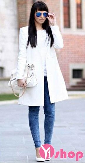 Áo khoác dạ nữ dáng dài đẹp thu đông 2019 sành điệu tới công sở