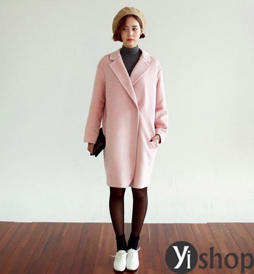 Áo khoác dạ nữ dáng dài đẹp xu hướng thời trang Hàn Quốc thu đông 2021 - 2022