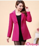 Áo khoác dạ nữ dáng dài màu hồng đẹp xu hướng thời trang thu đông 2021 – 2022