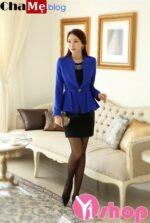 Áo khoác dạ nữ dáng ngắn đẹp kiểu Hàn Quốc thanh lịch đông 2021 – 2022