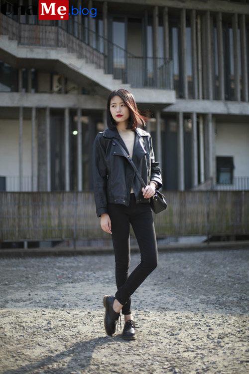 Áo khoác da nữ dáng ngắn đẹp mùa đông 2021 - 2022 phong cách