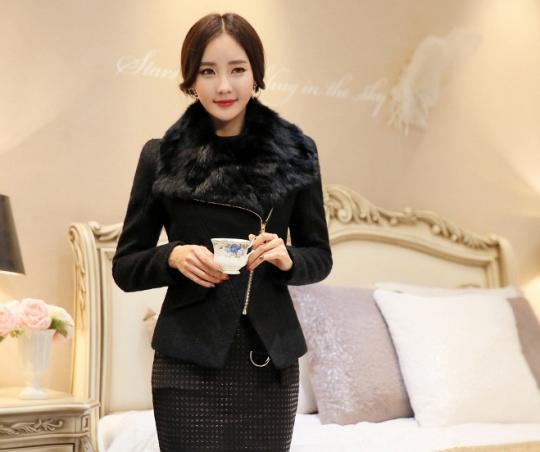 Áo khoác dạ nữ dáng ngắn đẹp sang trọng đi dự tiệc thu đông 2019