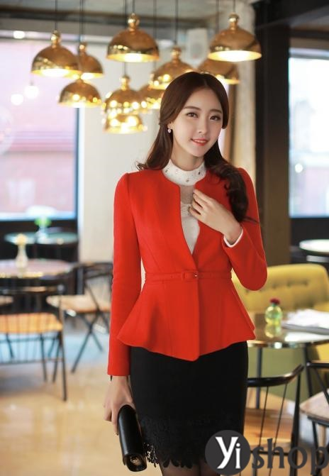 Áo khoác dạ nữ dáng ngắn đẹp thu đông 2019 cho người gầy ấm áp