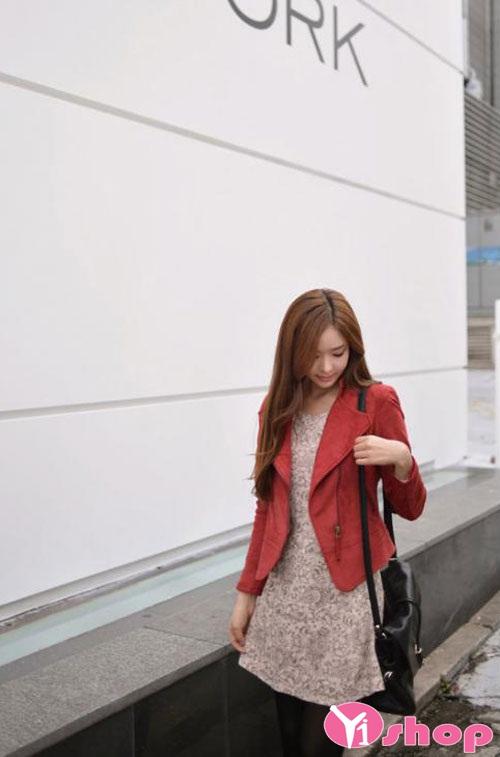 Áo khoác dạ nữ dáng ngắn đẹp thu đông 2019 trẻ trung xinh xắn