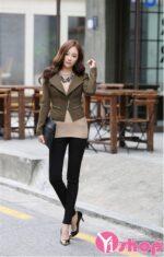 Top 15 mẫu áo khoác nữ Hàn Quốc đẹp thu đông 2021 – 2022 cho nàng thấp bé