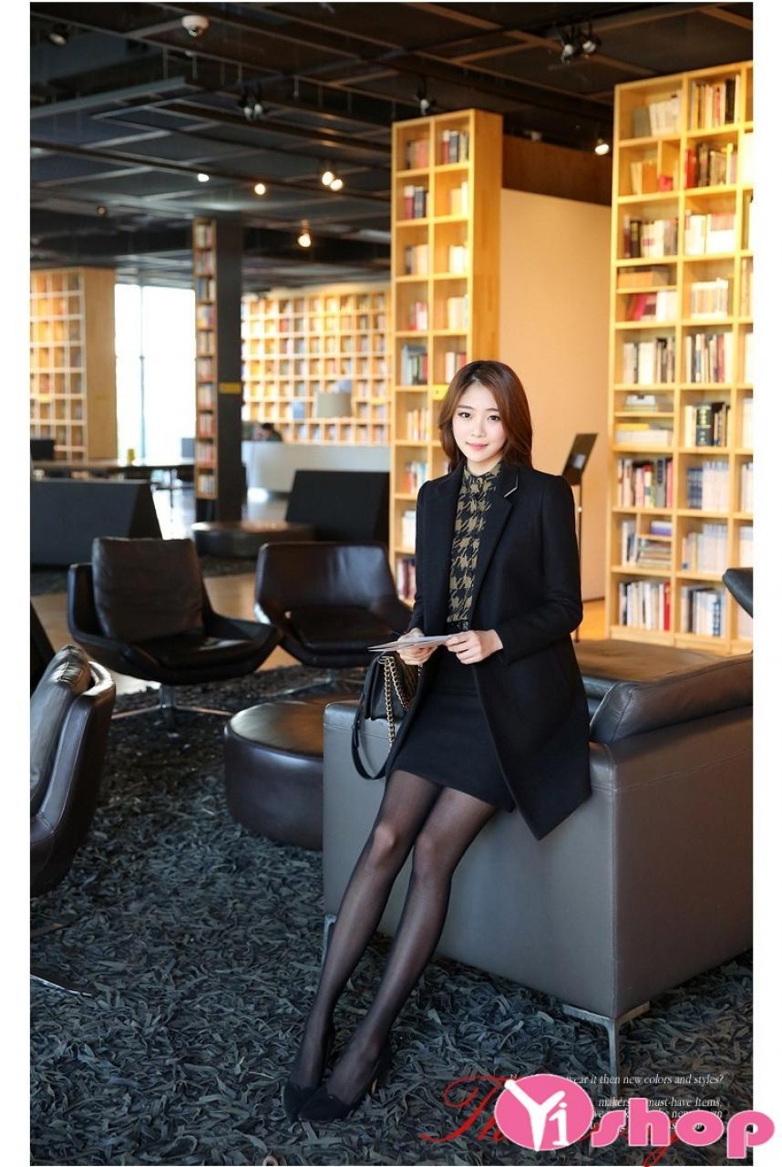 Áo khoác nữ mỏng đẹp kiểu Hàn Quốc sành điệu thu đông 2021