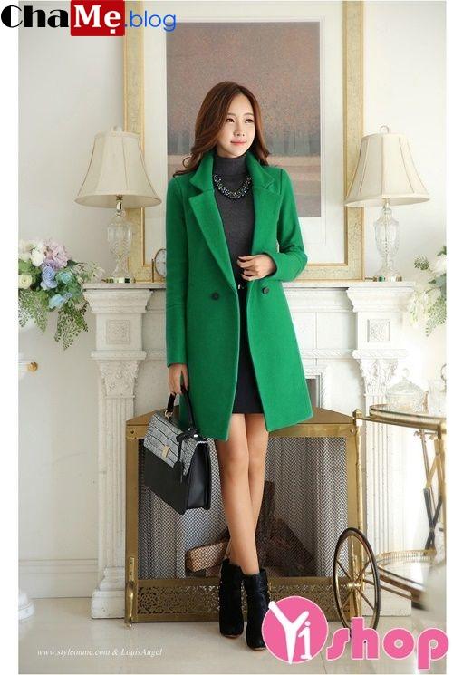 Áo khoác dạ nữ dáng suông đẹp cho ngày đại hàn không lạnh