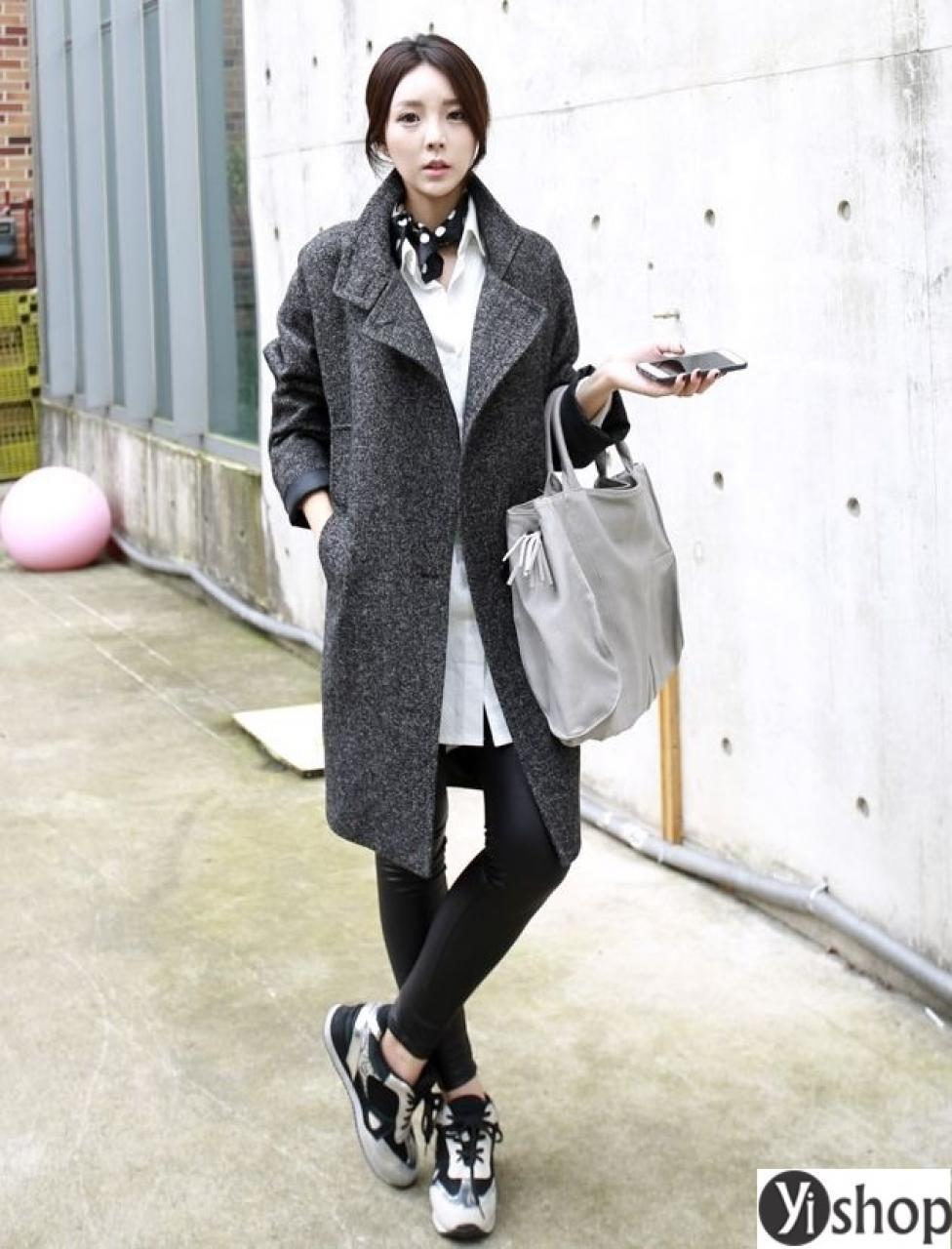 Áo khoác dạ nữ dáng suông đẹp đang thịnh hành nhất thu đông 2019