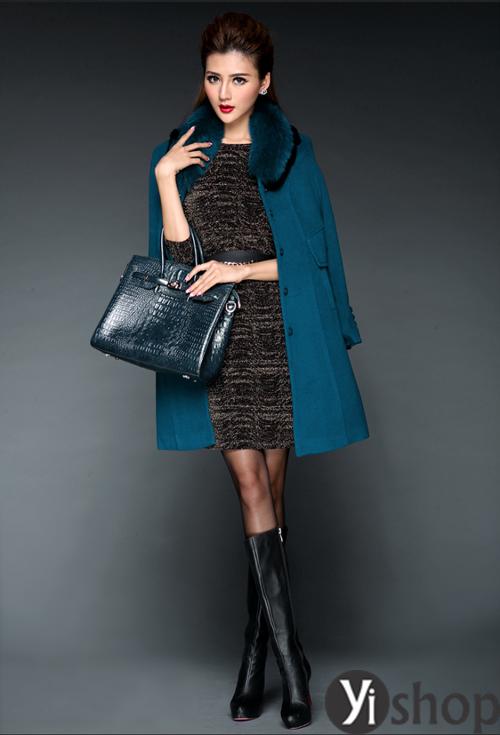 Áo khoác dạ nữ dáng suông đẹp không bao giờ lỗi mốt thu đông 2019