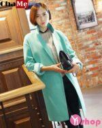 Áo khoác dạ nữ dáng suông đẹp kiểu Hàn Quốc ấm áp đông 2021 – 2022