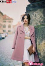 Áo khoác dạ nữ dáng suông đẹp phong cách vintage đông 2021 – 2022