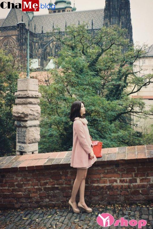 Áo khoác dạ nữ dáng suông đẹp phong cách vintage đông 2021 - 2022