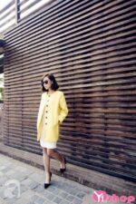 Áo khoác dạ nữ dáng suông đẹp thời trang công sở Hàn Quốc đông 2021 – 2022