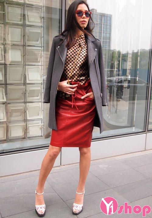 Áo khoác dạ nữ dáng suông đẹp thu đông 2019 cho người thấp lùn
