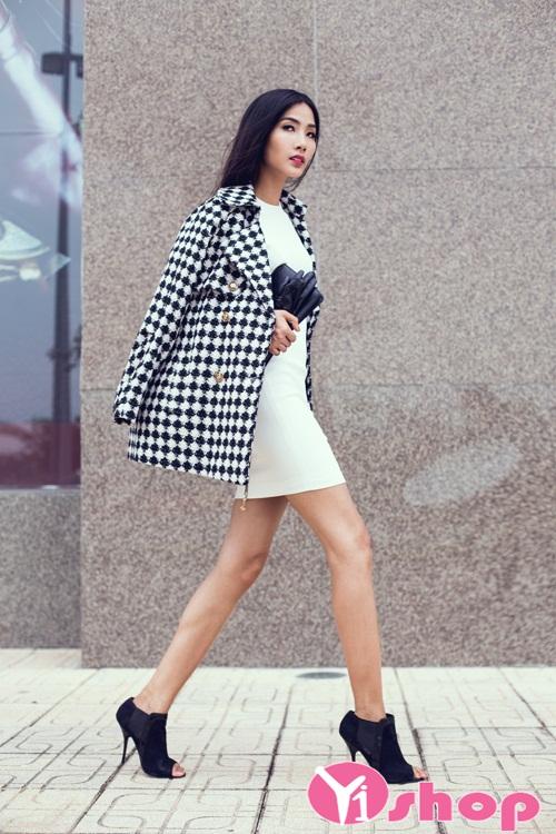 Áo khoác dạ nữ dáng suông đẹp thu đông 2019 sành điệu dạo phố