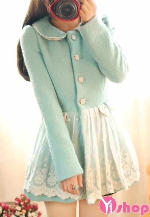 Áo khoác dạ nữ dáng váy đẹp thu đông 2019 cho teen girl xinh xắn